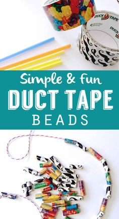 Simple and Fun Duct Tape Beads using a straw - so simple