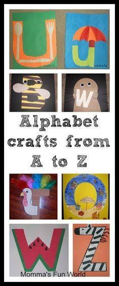 Alphabet crafts for each letter