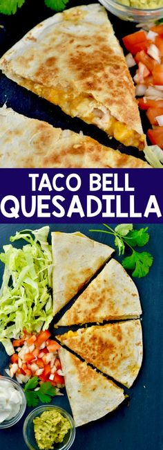 Make this Copycat Taco Bell Chicken Quesadilla recipe right in the comfort of yo. Make this Copycat Taco Bell Chicken Quesadilla recipe right in the comfort of your own home. It is so easy to throw together and makes a perfect and easy weeknight dinner. Taco Bell Recipes, Mexican Food Recipes, Beef Recipes, Chicken Recipes, Cooking Recipes, Healthy Recipes, Recipes Dinner, Cooking Gadgets, Copycat Recipes