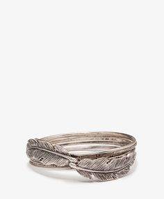 This would be a sweet ring. Fashion: Top 5 Arm Party Bracelet Sets #feather #bracelet #projectinspired