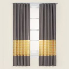 Products Yellow And Grey Curtains