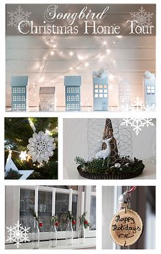 Christmas home tour with easy & fast and  simple & beautiful Christmas decorations in a natural, rustic and Nordic style. http://www.songbirdblog.com