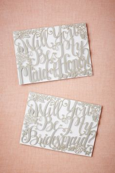 Will You Be My Card via Brides.com #OurSkinnyWedding
