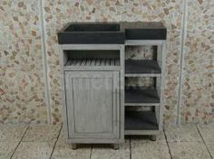 Badmöbel Kerinci Cabinet Mindyholz, Tür Links, Bluestone