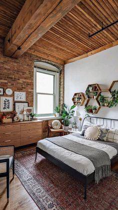 Room Ideas Bedroom, Home Decor Bedroom, Bedroom Wall, Master Bedroom, Bedroom Country, Decor Room, Style Deco, Home And Deco, Dream Rooms