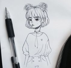 New Ideas For Cool Art Drawings Sketches Sketchbooks Girl Drawing Sketches, Cool Art Drawings, Pencil Art Drawings, Art Inspo, Inspiration Art, Pretty Art, Cute Art, Art Du Croquis, Art Mignon