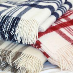 Wool blankets.