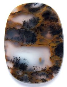 Dendritic Moss Agate from Russia Minerals And Gemstones, Rocks And Minerals, Moss Agate, Agate Stone, Stones And Crystals, Gem Stones, Dendritic Agate, Beautiful Rocks, Mineral Stone