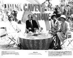 """HealtH"" movie still, 1980.  L to R: Lauren Bacall, Dick Cavett, Carol Burnett, Glenda Jackson."