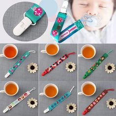 Cute Baby Newborn Animals Dummy Chain Pacifier Clip Holder Nipple Strap Soother