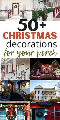 easy front porch Christmas decoration ideas. Here are the best outdoor Christmas decorating ideas for your front porch. Here are the best ways to decorate your front porch on a budget for Christmas Decorating With Christmas Lights, Outdoor Christmas Decorations, Porch Decorating, Decorating Ideas, Holiday Decor, Decor Ideas, Christmas On A Budget, Christmas Porch, Homemade Christmas