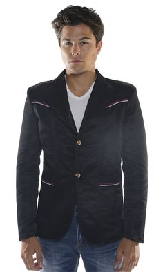 https://www.cityblis.com/9702/item/15761   Vassari Men's Striped Jacket Blazer - $139 by BARABAS   The easiest way to bring charm to your look is with a Vassari Blazer. Fashioned with two outer pockets and one inside pocket. Having a Vassari blazer is a hip choice for your wardrobe. Regular fit, long sleeve and v-neckline collar perfect with a Vassari shirt and denim for a night out.  70% Cotto...   #Blazers/SportCoats