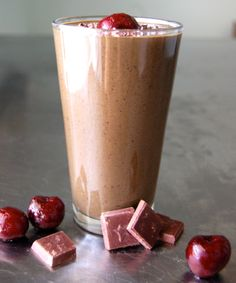 chocolate cherry truffle green smoothie