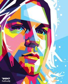 WPAP Kurt Cobain by Gustirizaldy on DeviantArt Pop Art Poster, Retro Poster, Illustration Pop Art, Portrait Illustration, Caricature, Kurt Cobain Art, Nirvana Art, Sketch Manga, Pop Art Portraits