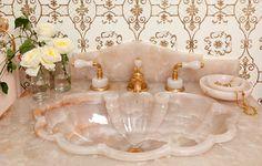 Sherle Wagner Onyx Pedestal sink