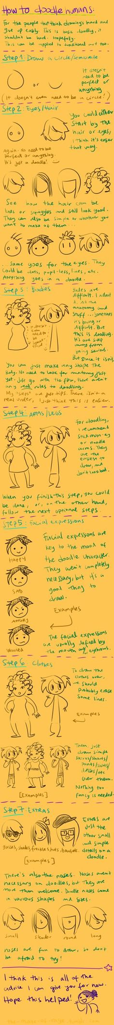 doodling tutorial by ~Mistakes13 on deviantART