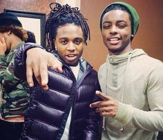 Jacquees && Ace. I love me some dreadheads but damn Ace got that babyface . ~_^ #BestOfBothWorlds