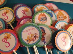 12 Bubble Guppies Cupcake Toppers