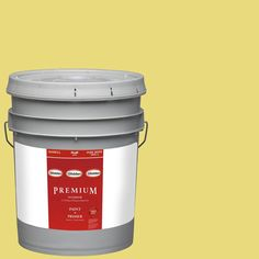 Glidden Premium 5-gal. #HDGG03D Citrus Lime Punch Flat Latex Interior Paint with Primer