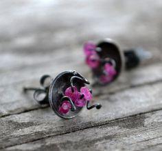 mod pod stud earrings  sterling silver and by wildflowerdesigns, $65.00