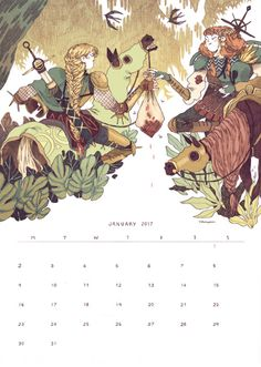 Hey! I'm doing a calendar this year and this one is the first illustration!