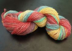This hand dyed yarn, inspired by Welcome to Night vale is available on Etsy Glow Cloud, Night Vale, Finger Weights, Hand Dyed Yarn, Knit Or Crochet, Hand Spinning, Clouds, Hand Painted, Wool