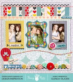 Layout by Glenda Viljoen using the What a Wonderful Day collection by Fancypantsdesigns.com