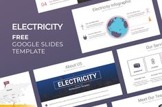 Free Electricity Google Slides Presentation Template Best Presentation Templates, Presentation Board Design, Presentation Backgrounds, Layout Template, Keynote Template, Free Powerpoint Presentations, Google