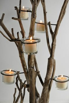 """26"""" Natural Branch Candle Holder Tree $31"""