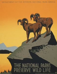 WPA poster promoting the National Parks, 1938