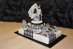 pinterest halloween | Pin Halloween Wedding Cake — 2008 Cakes Contest cake picture to ...