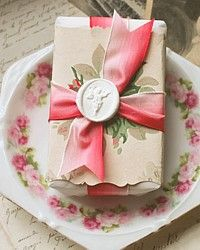 Hand Wrapped French Provence Soap.  Absolutely lovely and so feminine.
