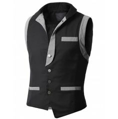 Mens Style Vest (AV6) WWW.DOUBLJU.COM - Not a big fan of asymmetrical, so I only look at half at a time.