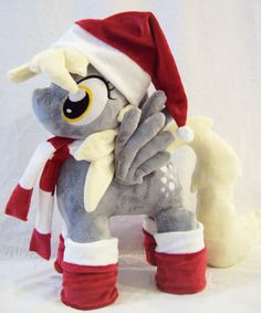Mlp Fim Open Commission DERPY HOOVES Plush with Christmas Accessories