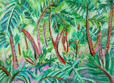 Mother's Day.Tropical Landscape.Original by InekedeVries on Etsy