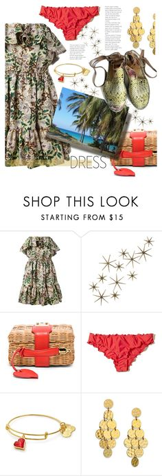 """""""Spring Trend: Off Shoulder Dresses"""" by klementina-kuzma ❤ liked on Polyvore featuring Philosophy di Lorenzo Serafini, Global Views, Mark Cross, Hollister Co., Stephanie Kantis and House of Harlow 1960"""
