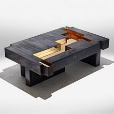Bronze Age coffee table by Piergiorgio Robino