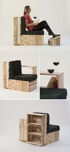 allwithpallets  Pallets chair design.