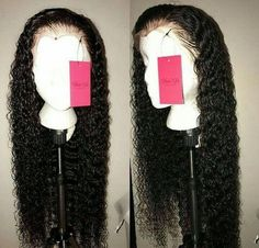 Slove Funmi Lace Front Human Hair Wigs For Black Women Bouncy Curly Lace Wig Brazilian Remy Pre Plucked With Bleached Knots Wigs Mermaid Hair Extensions, Hair Extensions For Sale, Curly Hair Styles, Natural Hair Styles, Human Hair Lace Wigs, Human Wigs, Hair Laid, Wigs For Black Women, Weave Hairstyles