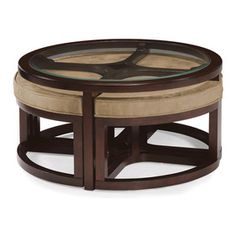 Magnussen Home Furnishings Juniper Mink Brown Wood Round Tail Table And Stools Set