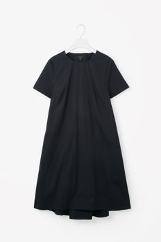 COS image 2 of Tie-back A-line dress in Navy