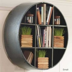 Round metal hanging shelf- vivaterra