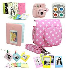 Fujifilm Instax Mini 8 Instant Camera Accessory Bundles Set (Included: Pink Vintage Instax Mini 8 Case Bag With Film Count Show/ sweet time Mini Book Album / Pink Rabbit Design Mini 8 Close-Up Lens(Self-Portrait Mirror)/ Colorful Close-Up Lens For Mini 8/ Wall Decor Hanging Frame/ 3 Inch Photo Frame/ Colorful Decor Sticker Borders) CAIUL http://www.amazon.com/dp/B00OIOTLEU/ref=cm_sw_r_pi_dp_5uK0ub0QS99Z3