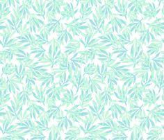 palm beach - mint and aqua fabric by kristinnohe on Spoonflower - custom fabric