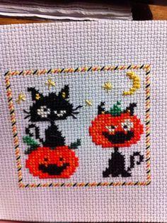 cross stitch halloween pumpkin - Google Search