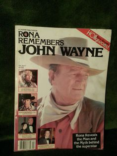 VERY RARE Rona Remembers John Wayne Hollywood Magazine Volume 1 John Wayne, Hollywood Magazine, Wayne Family, American Legend, People Of Interest, The Man, Superstar, Ted, Actors