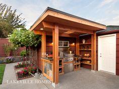 outdoor bbq wood burner shelter garden