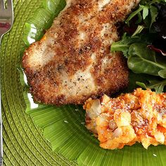 Oh Tilapia!  Coconut-Almond Crusted Tilapia with Tropical Sweets and Reds Mash by Perry's Plate, via Flickr