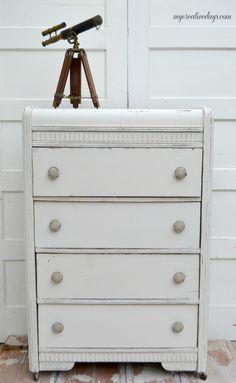 mycreativedays: Monochromatic Dresser Makeover