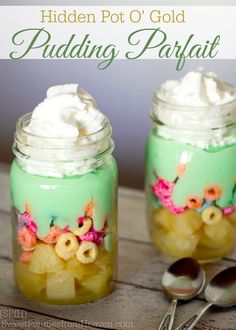 Hidden Pot O' Gold Pudding Parfait